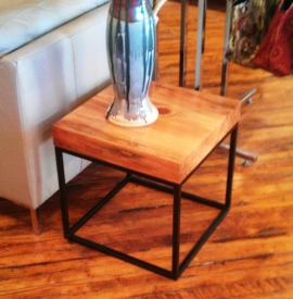 Heavy Pine End Table